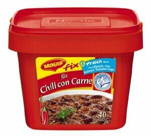 maggi fix chili con carne kalorien kohlenhydrate 7613030566809. Black Bedroom Furniture Sets. Home Design Ideas