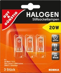 halogen stiftsockellampe g4 20w preisvergleich shops tests 4311501370858. Black Bedroom Furniture Sets. Home Design Ideas