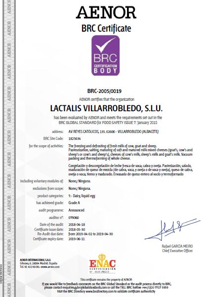 BRC Certificate