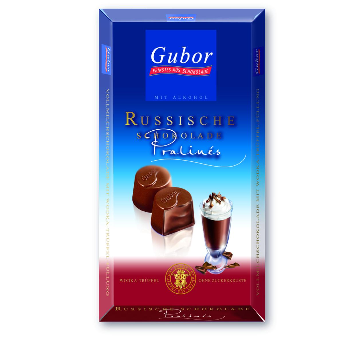 Russische Schokolade Pralinés 100g 100 Gramm Gubor Schokoladen