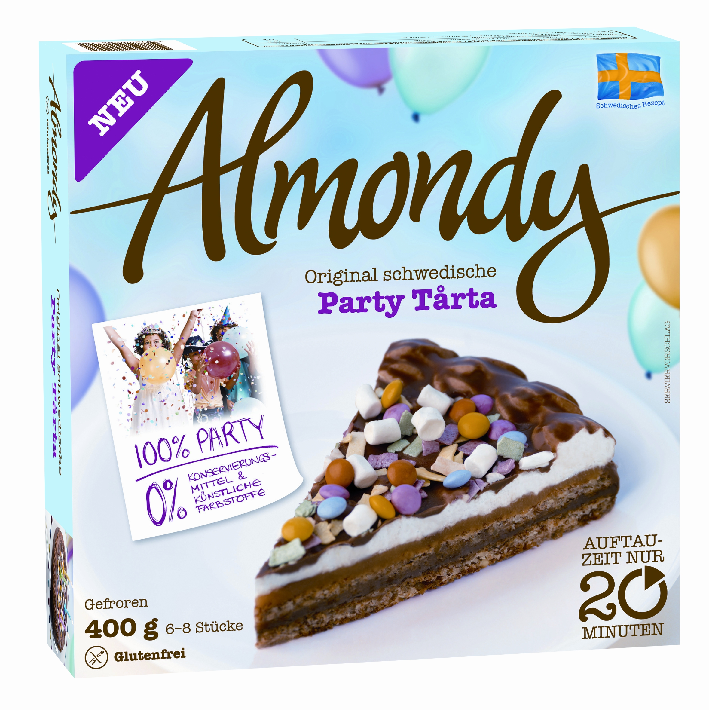 Almondy Original schwedische Party Tårta 400g (400 grams ... Almondy Bakery