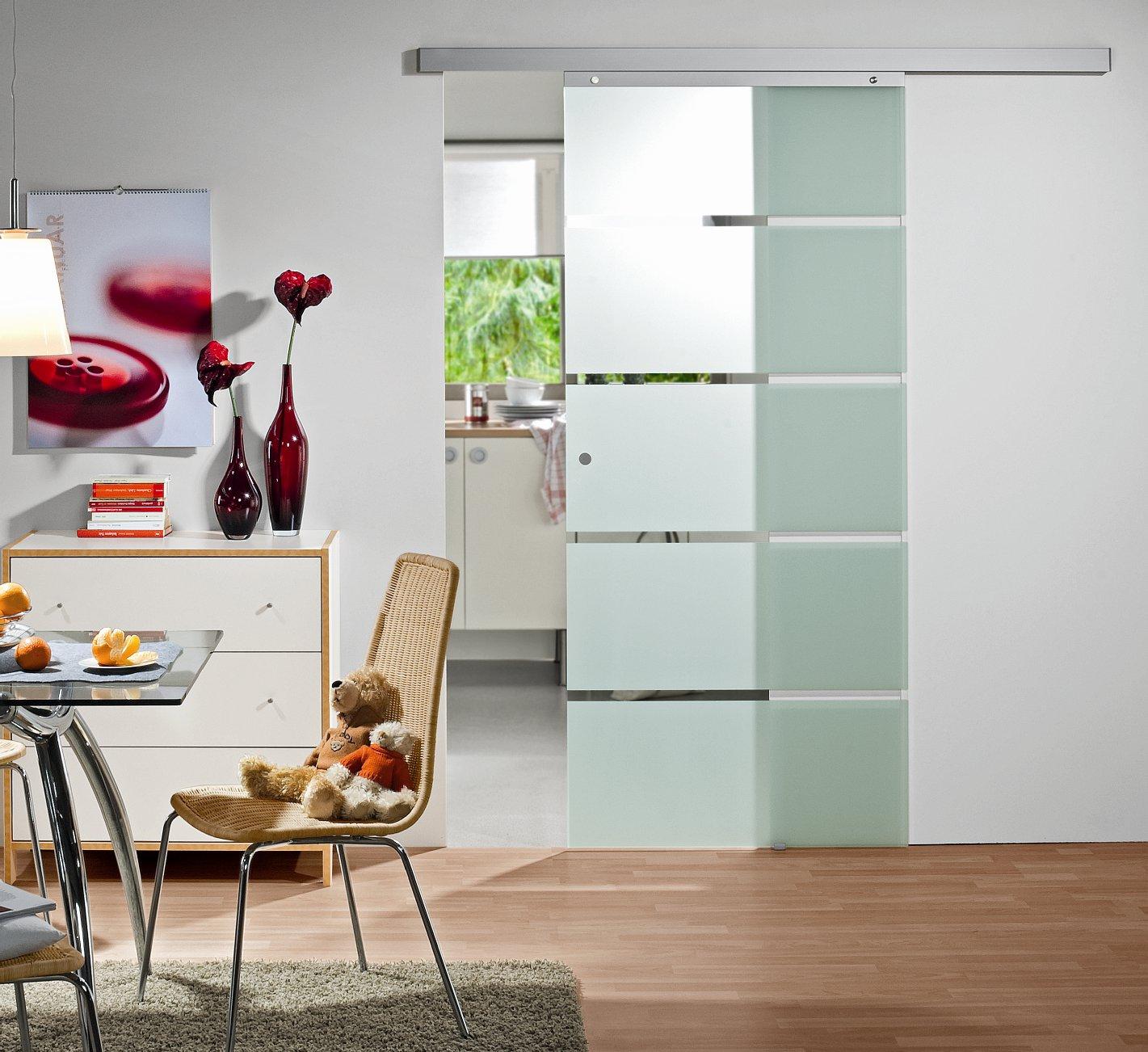 ganzglas schiebet r blockstreifen t ren f r innen baustoffe bauelemente baubedarf. Black Bedroom Furniture Sets. Home Design Ideas