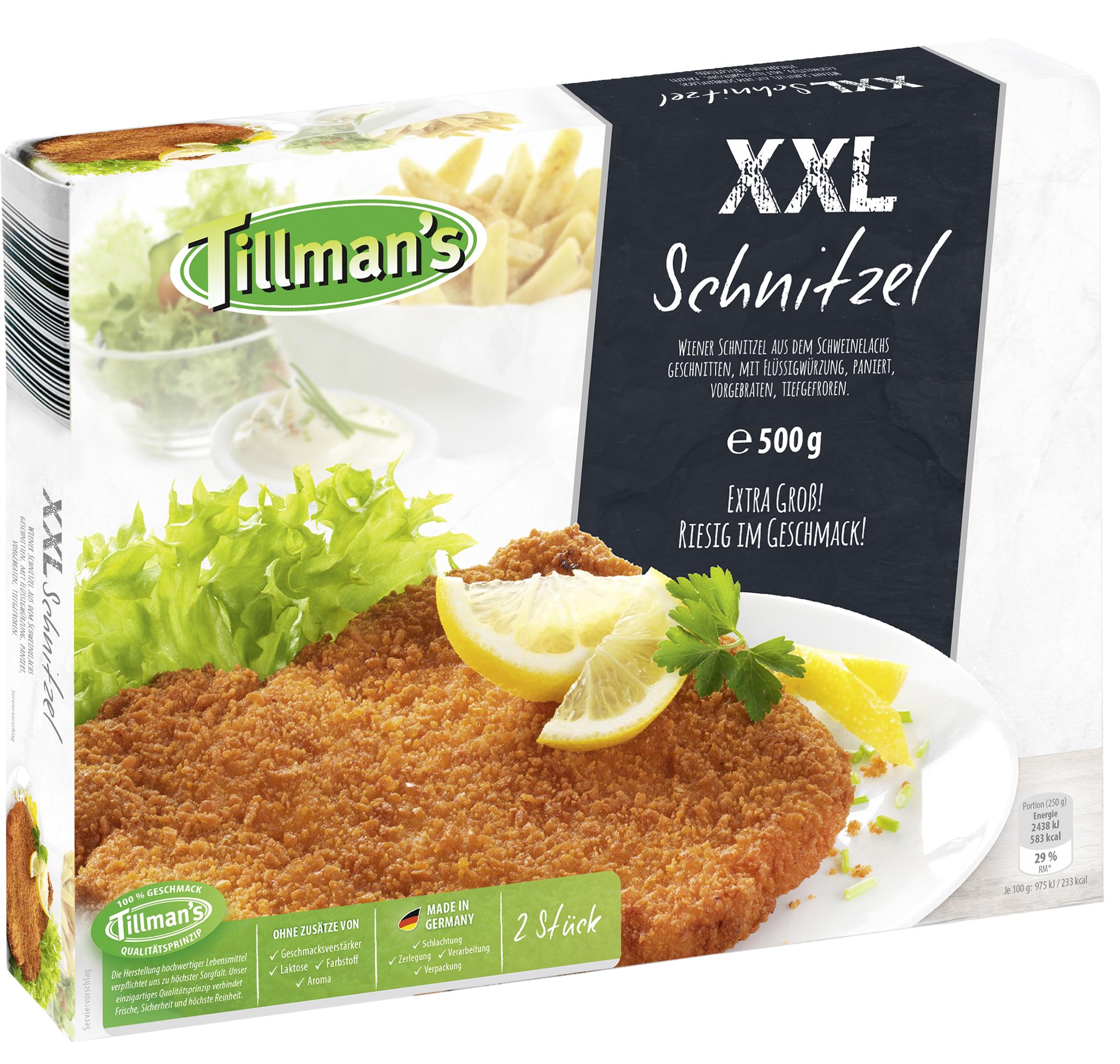 xxl schnitzel vom schwein nach wiener art tk 2 x 250 gramm tillman 39 s convenience gmbh. Black Bedroom Furniture Sets. Home Design Ideas
