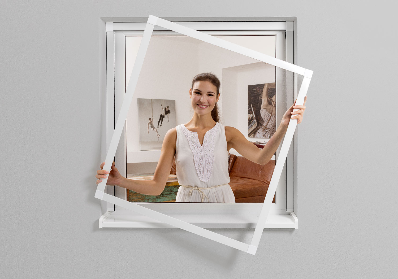 norma aluminium fliegengitter bausatz f r fenster. Black Bedroom Furniture Sets. Home Design Ideas