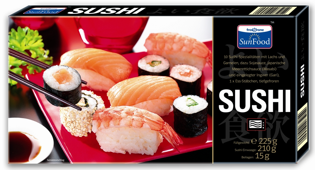 Sushi 225 grams fish prepared processed frozen for Frozen fish for sushi