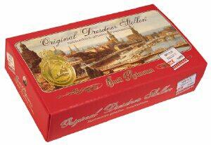 Dresdner stollen im karton rot 1000 gramm emil reimann for Butter kuchen dresden