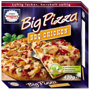 big pizza bbq chicken american style 420 gramm nestl wagner gmbh pikantes geb ck pizzen. Black Bedroom Furniture Sets. Home Design Ideas
