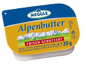 meggle kleeblatt butter 20g becher 2 kilogramm molkerei meggle wasserburg gmbh co kg butter. Black Bedroom Furniture Sets. Home Design Ideas