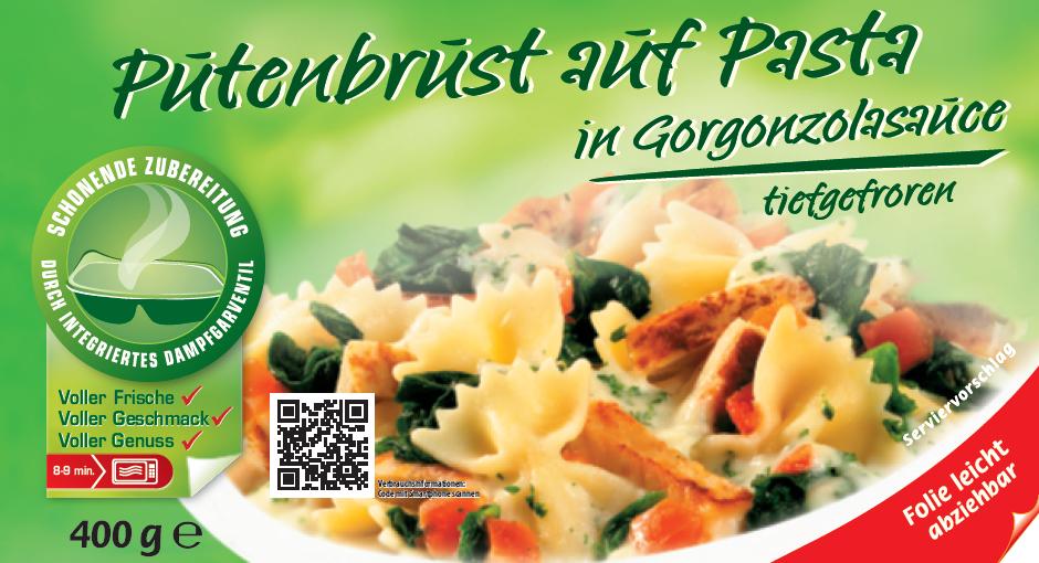 Küchenfertig Verzehrfertig ~ putenbrust auf pasta in gorgonzola sauce (400 gramm) jütro tiefkühlkost gmbh& co kg salate und