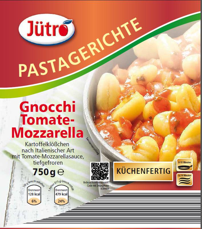 Küchenfertig Verzehrfertig ~ gnocchi tomate mozzarella (750 gramm) jütro tiefkühlkost gmbh& co kg salate und gerichte auf