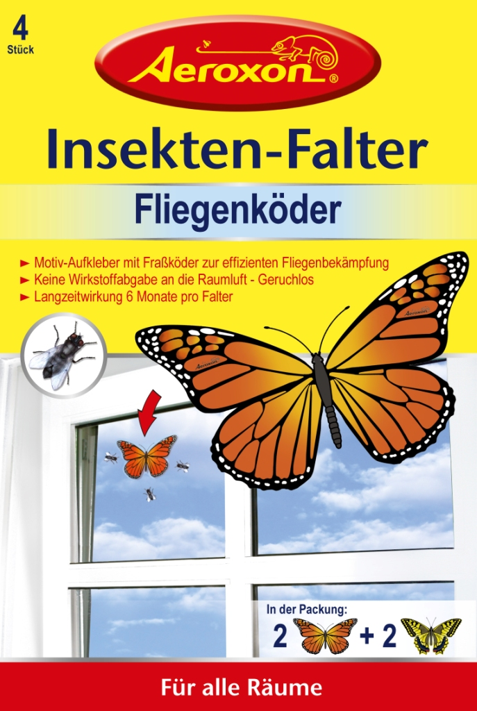 aeroxon insekten falter gegen fliegen 4 st ck dm deutschland mynetfair. Black Bedroom Furniture Sets. Home Design Ideas