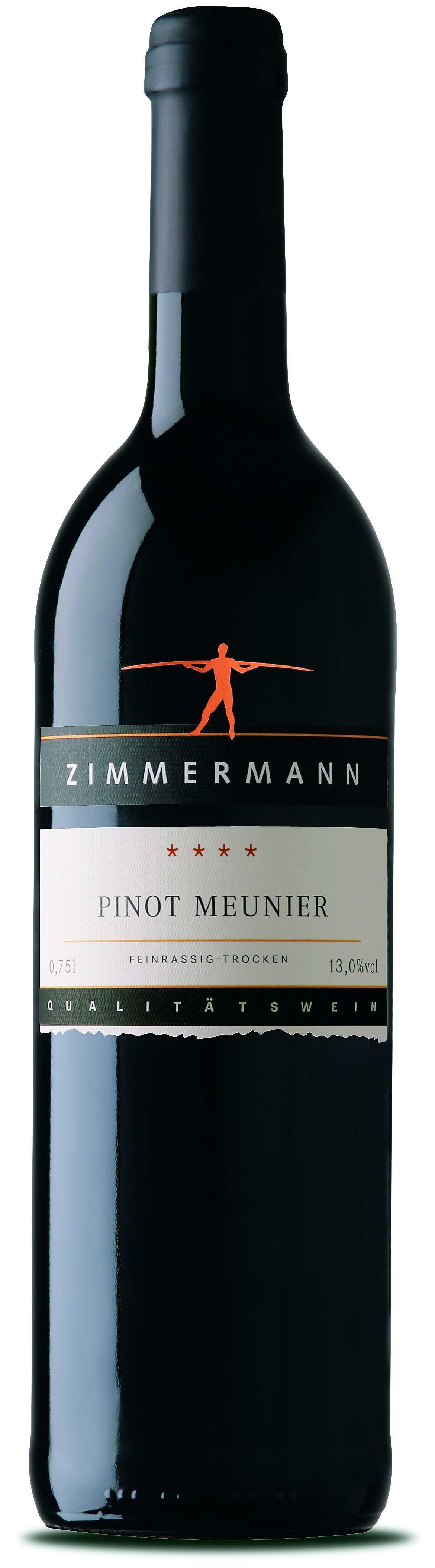 Zimmermann Pinot Meunier QbA trocken 0,75l (0,75 Liter) Zimmermann ...