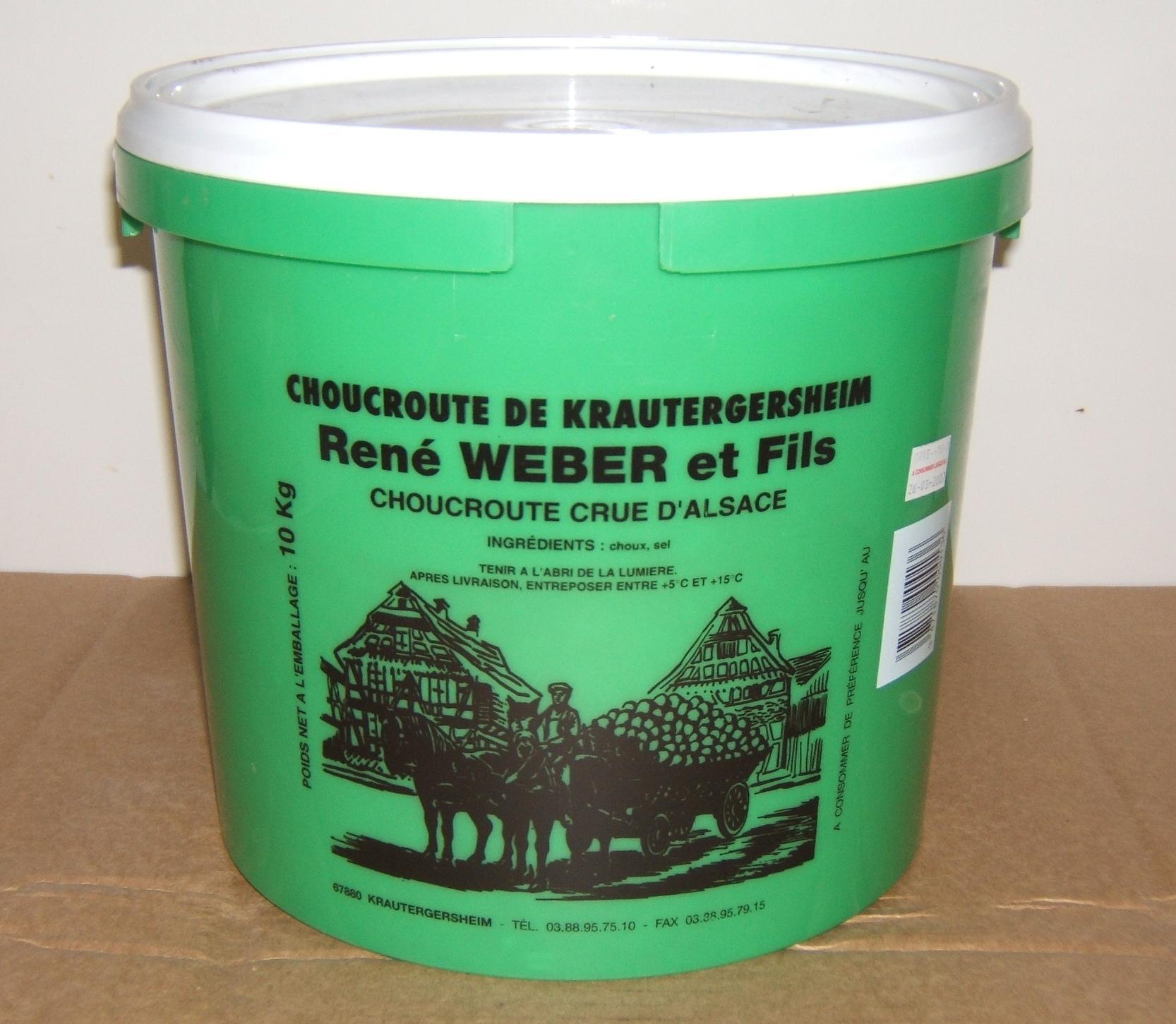 Choucroute crue 10kg 10 kilograms ren weber et fils - Cuisine crue et vivante ...