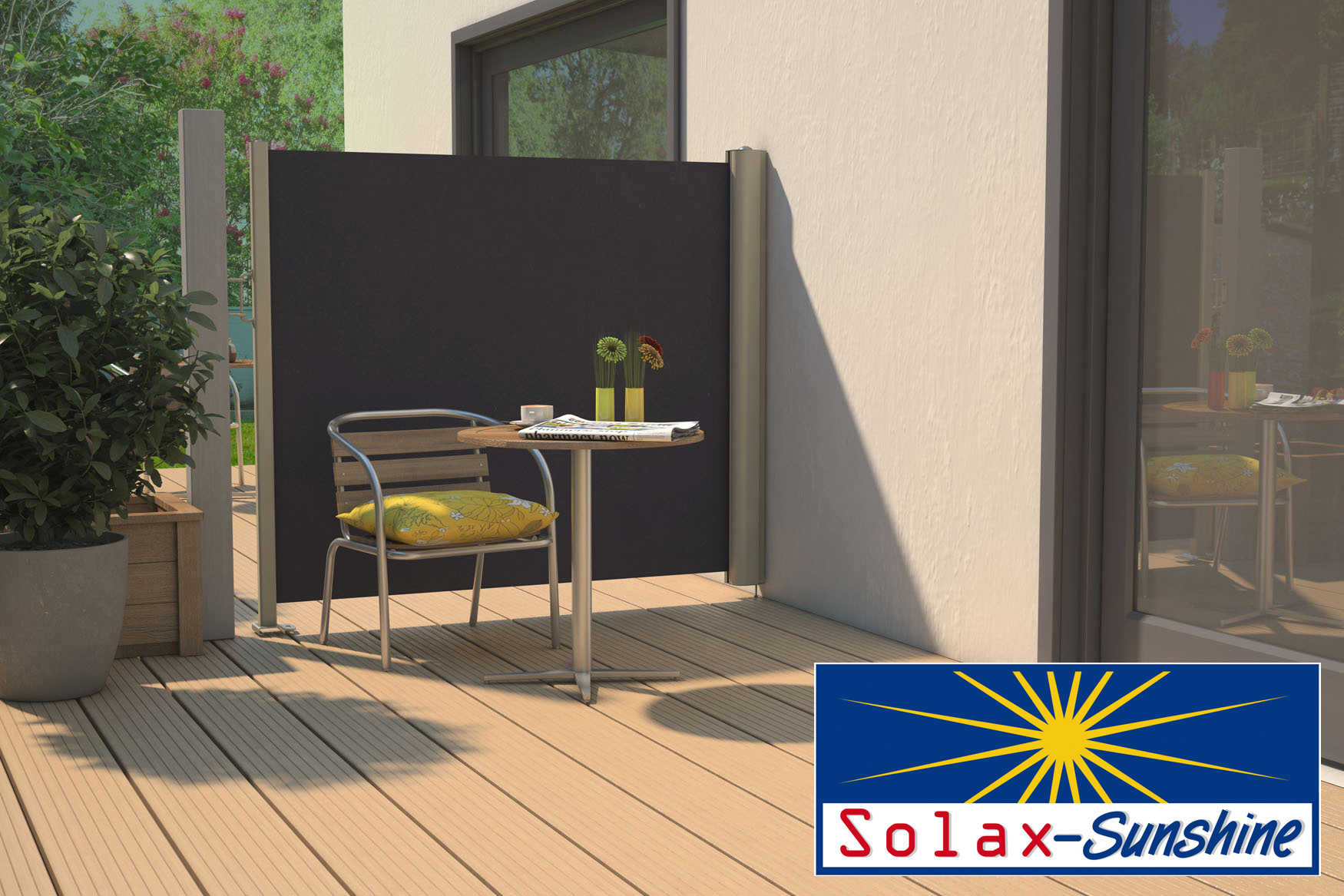 solax seitenmarkise f r terrasse oder balkon. Black Bedroom Furniture Sets. Home Design Ideas