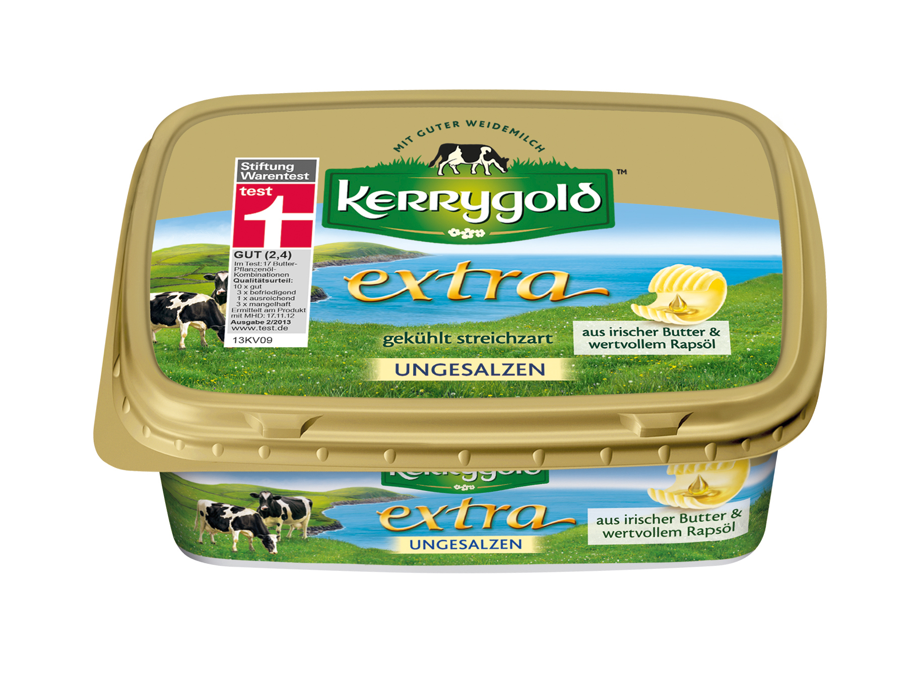 kerrygold extra ungesalzen 250g 250 gramm idb deutschland gmbh butter butterersatz gek hlt. Black Bedroom Furniture Sets. Home Design Ideas