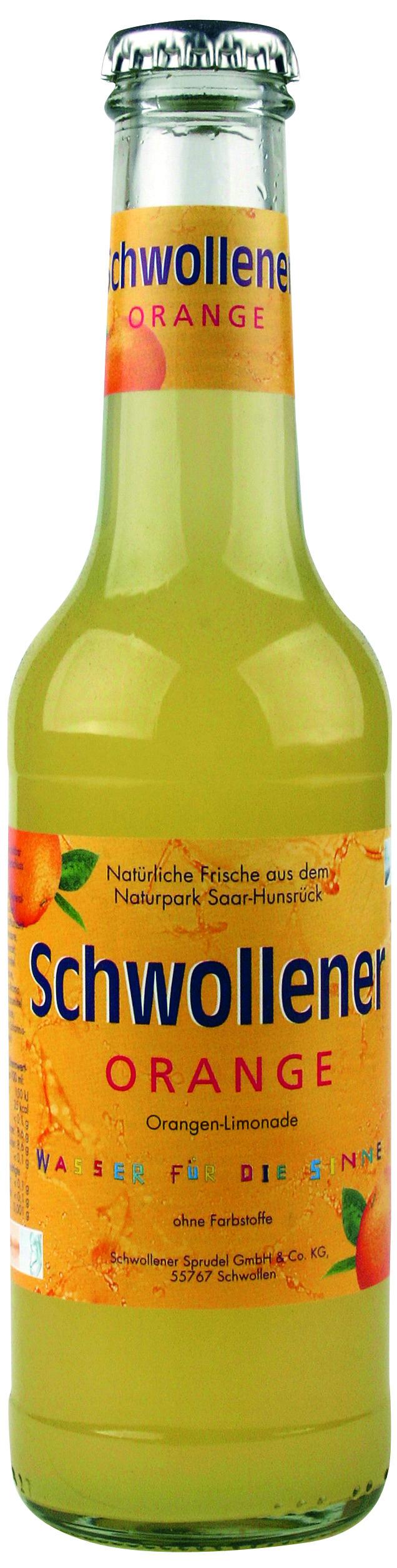Schwollener Orange 0,25l Glas (0,25 Liter) Schwollener Sprudel GmbH ...