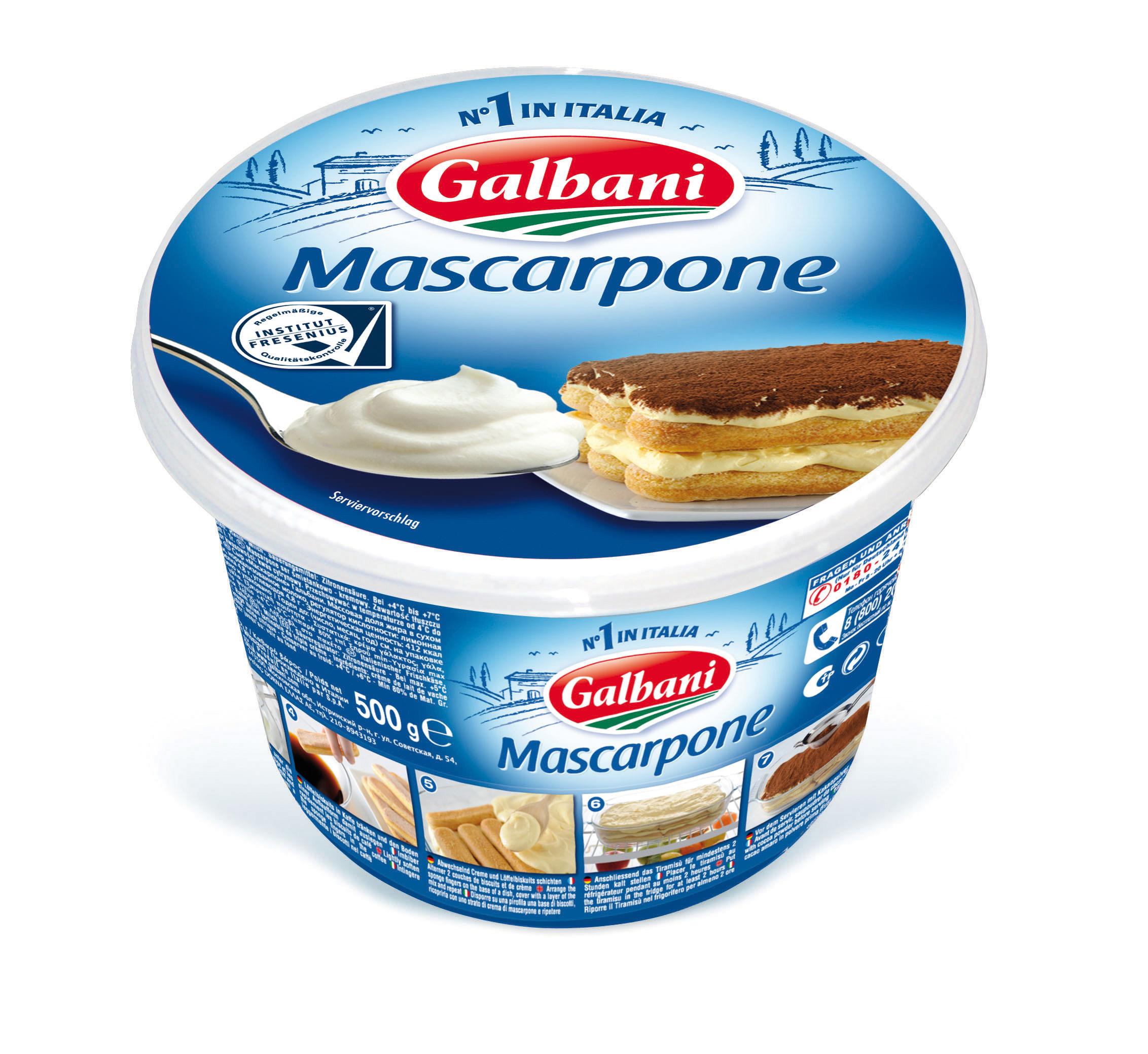 Galbani mascarpone 80 fitr 500 gramm intermopro for What to do with mascarpone