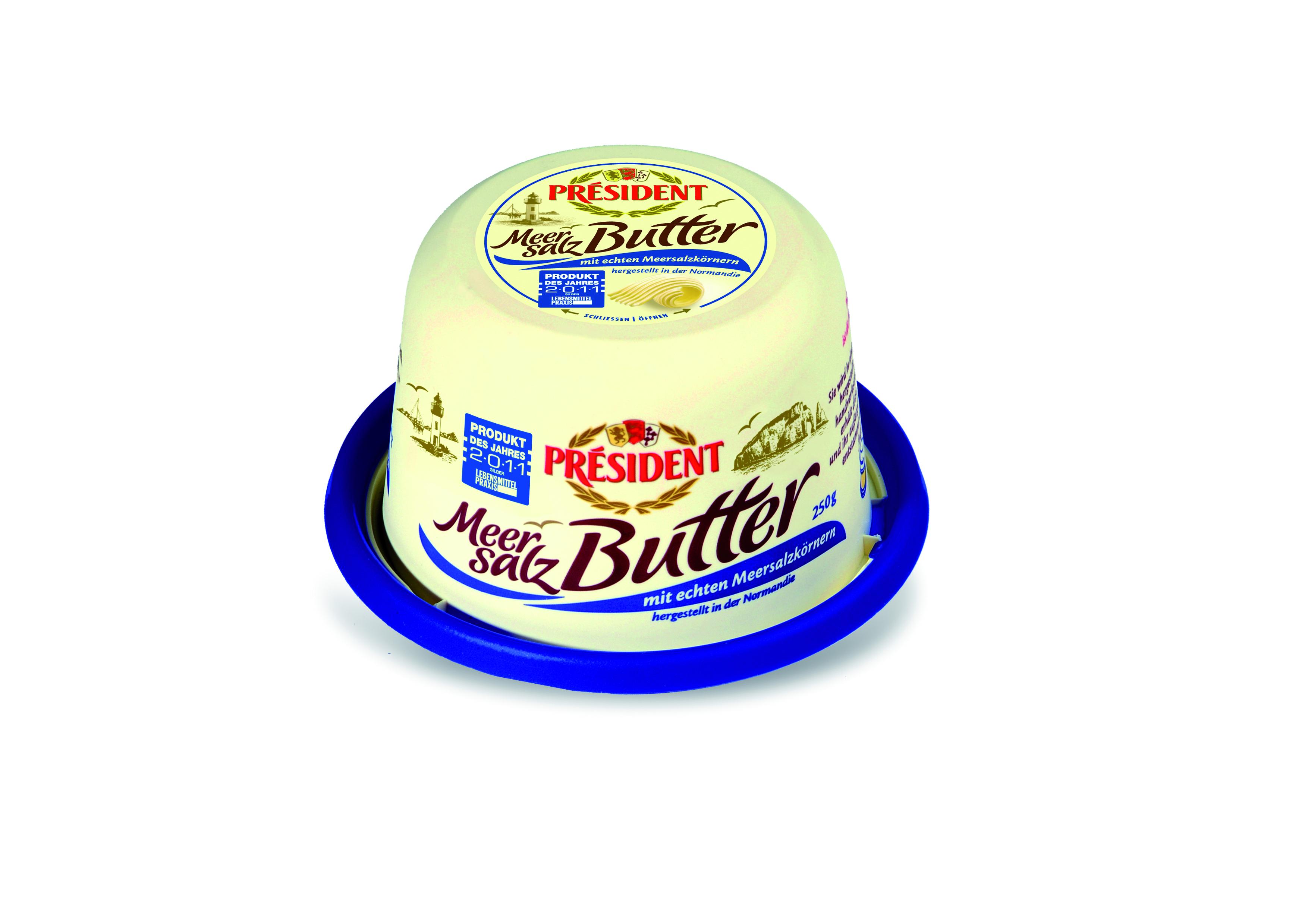 pr sident meersalz butter 250g 250 gramm lactalis deutschland gmbh butter butterersatz. Black Bedroom Furniture Sets. Home Design Ideas