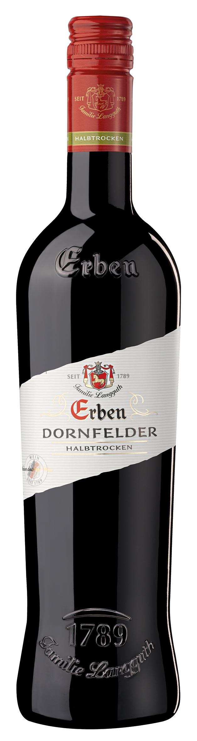 Erben Dornfelder halbtrocken Qualitätswein 0,75l (1 Stück ...