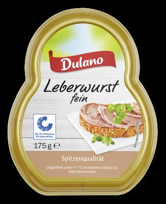 Dulano (Lidl) · Leberwurst fein (175 Gramm) Westfälische ...
