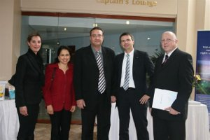 Ruediger Golluecke (2nd from right) meets with his team in South Africa new mynetfair exhibitors