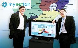 (from left) Juergen Siegloch (CEO Burda Direct), Ruediger Golluecke (CEO mynetfair)
